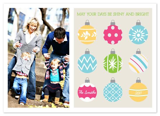 holiday photo cards - Shiny Bright Holiday