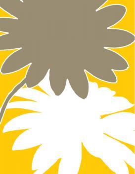 Illustrated Daisies - Yellow/White
