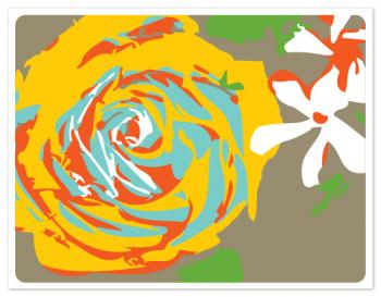 Abstract Bouquet Personal Stationery