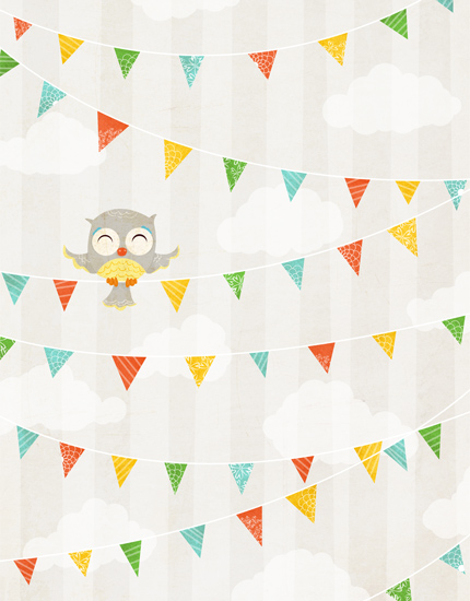 personal stationery - Owl Party