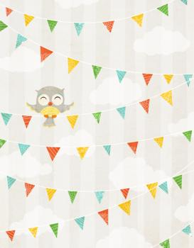 Owl Party Personal Stationery