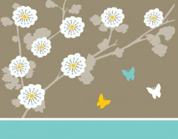 Flowers and Butterflies Personal Stationery