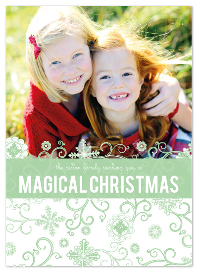 holiday photo cards - Magical Christmas by Edub Graphic Design
