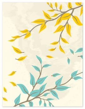 Fall Personal Stationery