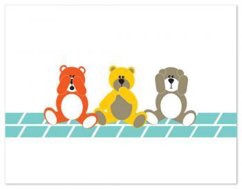 Three Bears Personal Stationery