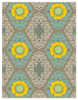 flowers on trellis Personal Stationery