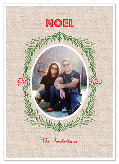 holiday photo cards - Pine Needles by - Keg Design -
