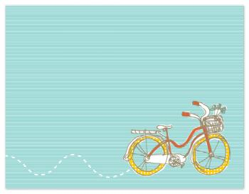 Nice Day For A Bicycle Ride Personal Stationery