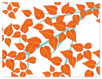 Leaves Personal Stationery