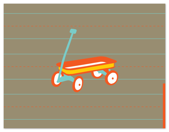 personal stationery - My Red Wagon by bernee lee