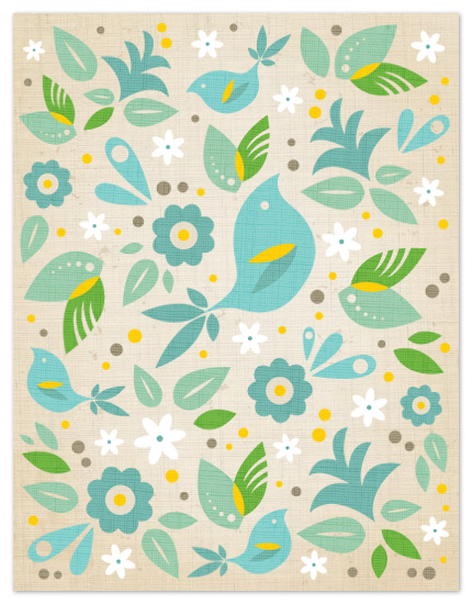 personal stationery - Blue Bird by Kristen Smith