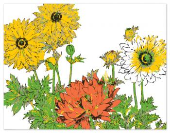A spring garden Personal Stationery