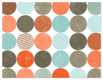 Geo Dots Personal Stationery