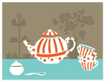 A Spot of Tea Personal Stationery