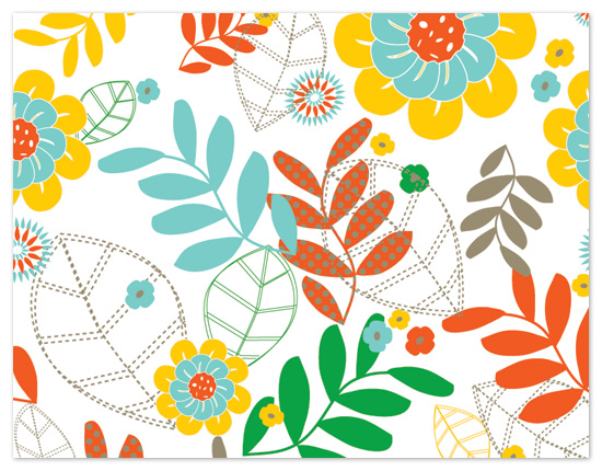 personal stationery - Funky Floral by Leslie Ann Jones