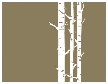 birch wood forest Personal Stationery