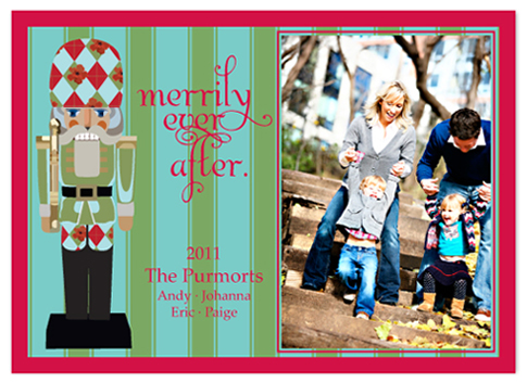 holiday photo cards - MOD NUTCRACKER by JOHANNA PURMORT