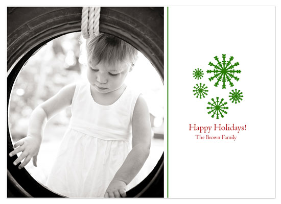 holiday photo cards - Snowflake Cluster by Tenille Jordan
