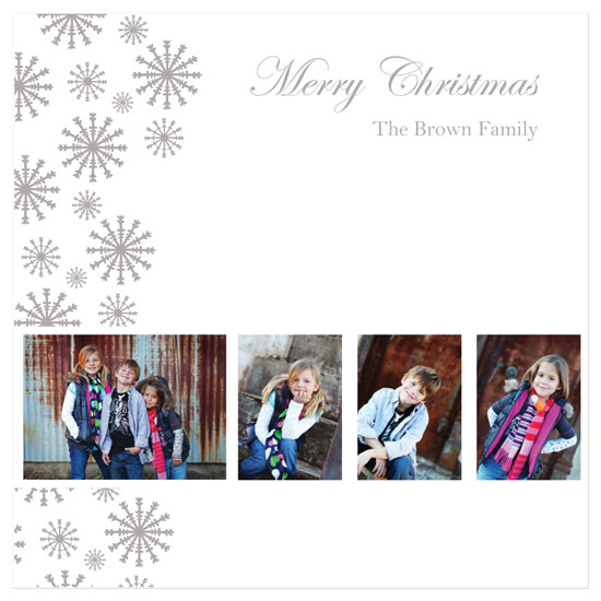 holiday photo cards - Flurry of Snowflakes by Tenille Jordan