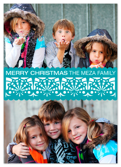 holiday photo cards - Festive Papel Picado Garland by Lizzy B Loves