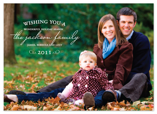 holiday photo cards - Wamest Wishes by Jen Gebrosky
