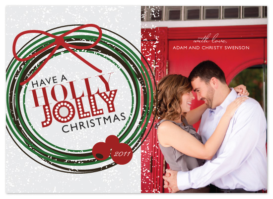holiday photo cards - Holly Jolly by The Opened Envelope