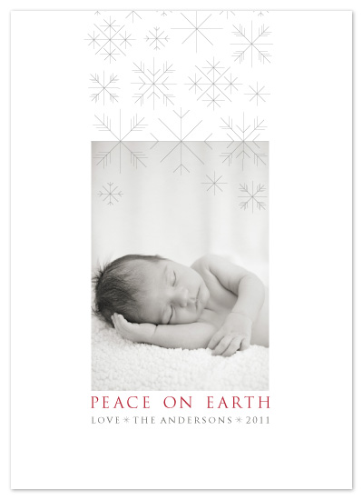 holiday photo cards - Light Snowfall by Amy Kuchan