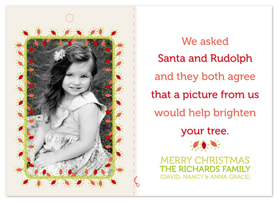 holiday photo cards - Cut & Hang Ornament Card by everydays a soiree