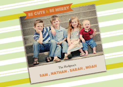 holiday photo cards - Warm Aslant by bernee lee