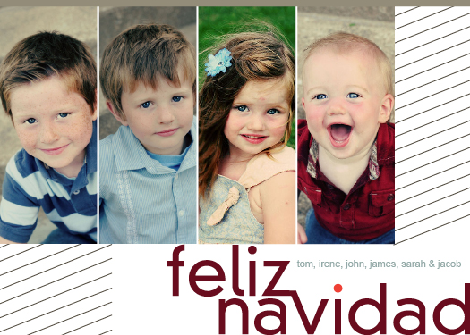 holiday photo cards - Español Foursome by bernee lee