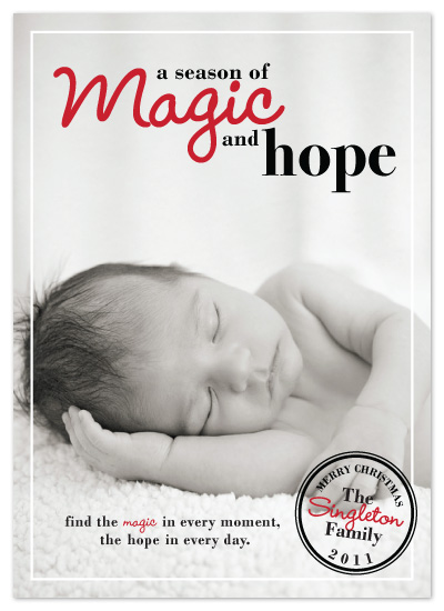 holiday photo cards - Magic and Hope by The Opened Envelope
