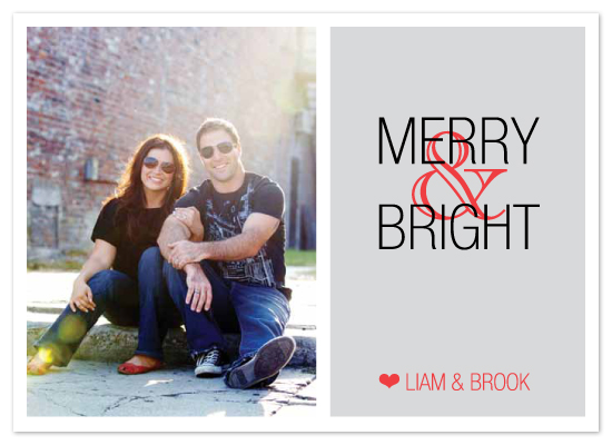 holiday photo cards - Simple Heart