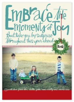 Embrace the Joy Holiday Photo Cards