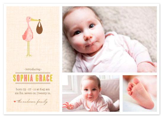 birth announcements - Sweet Stork by Three Kisses Studio
