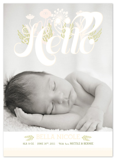 birth announcements - baby in bloom by Potluck Design