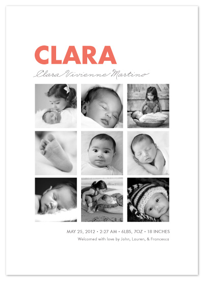 birth announcements - Nine Square by Olivia Raufman