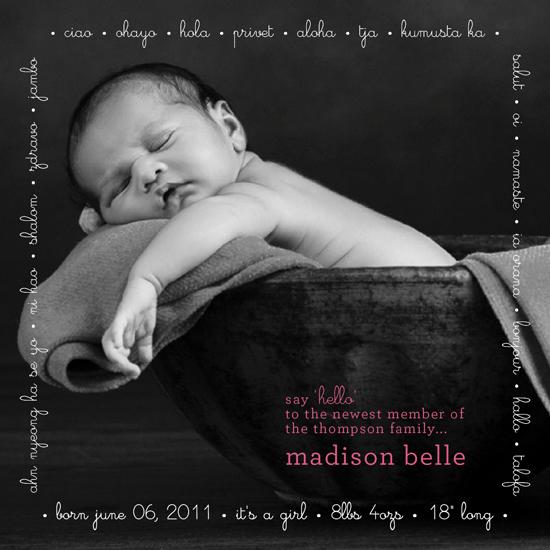 birth announcements - many hellos by Christina N Kinoshita