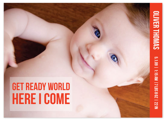 birth announcements - Get Ready World by Vicky Barone