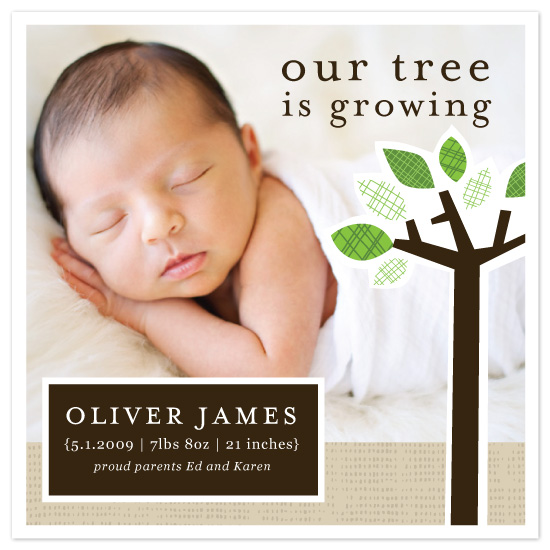 birth announcements - Our Tree Is Growing by Vicky Barone