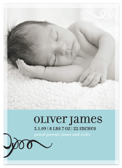 birth announcements - Simple Sophistication by Vicky Barone