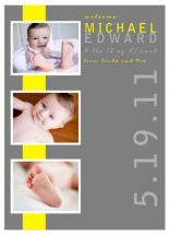 yellow baby banner by Tenille Jordan