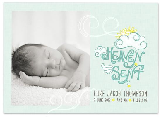 birth announcements - Heaven Sent by Edub Graphic Design