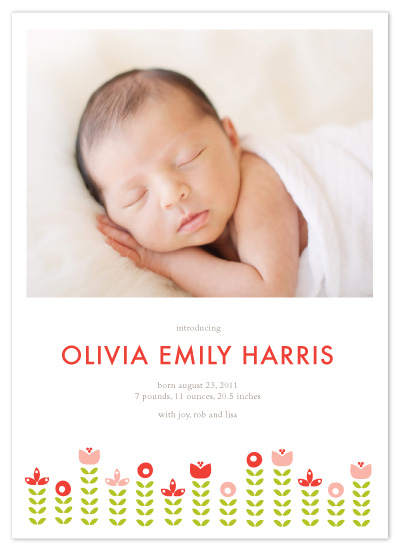 birth announcements - Olivia by Dozi