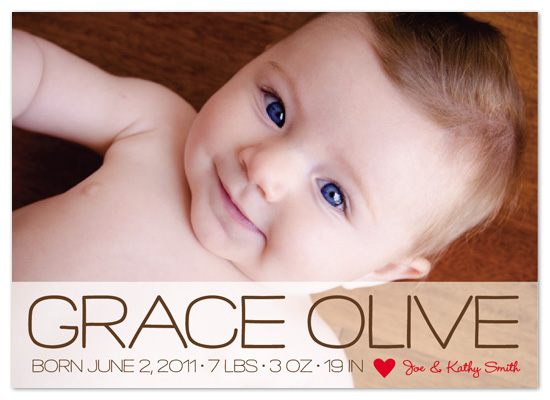 birth announcements - Modern Love by - Keg Design -