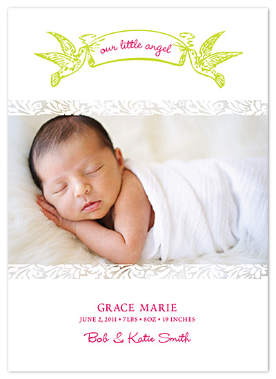 birth announcements - Our Little Angel by - Keg Design -