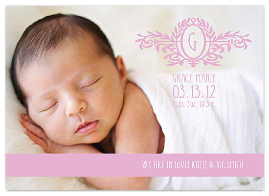 birth announcements - G is for Grace by - Keg Design -