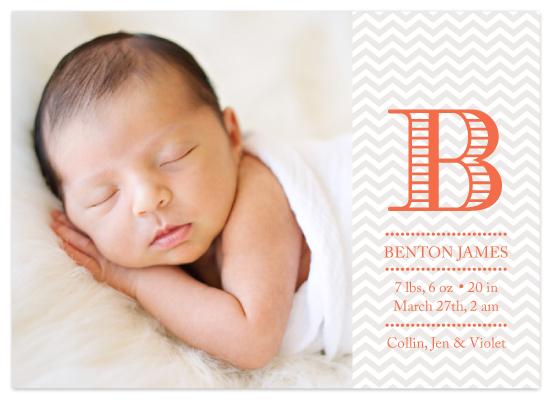 birth announcements - Herringbone Baby