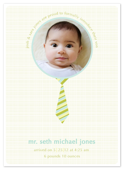 birth announcements - mr. baby