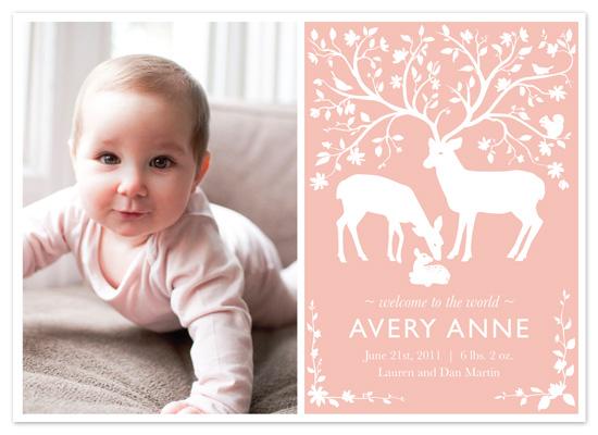 birth announcements - Woodland Wonder by Iron Range Artery