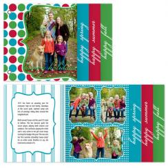 Holiday Brights & Stripes Cards